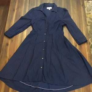 Anthropologie Moulinette Soeurs navy shirt dress